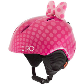Giro Launch Plus Casque Enfant, pink bow polka dots